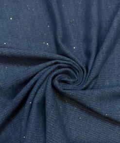 Купить ткань Синяя джинса с пайетками