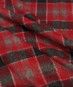 Красный пальтовый трикотаж по оптовой цене в розницу купить в Москве