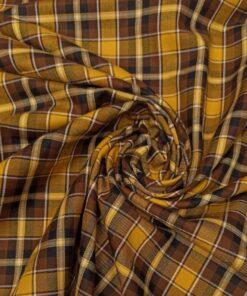 Желто-коричневая костюмная ткань