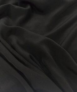 Черный шелк для платья купить в Москве недорого