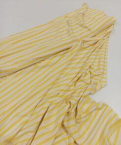 Купить полосатый желтый трикотаж в интернет-магазине в Москве