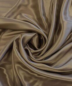 Подкладочная глянцевая светло-коричневая вискоза