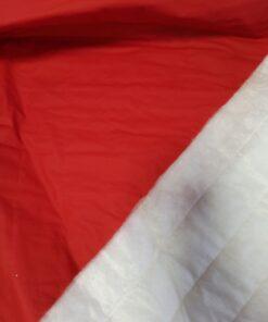 Купить красную стеганную курточную ткань в Москве недорого