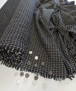 Итальянская черно-белая костюмная шанель
