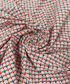 Ткань софт с карточным принтом