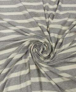 Полосатый трикотаж серого цвета для платья купить в Москве