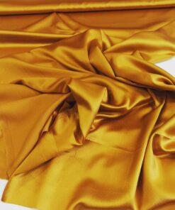 Атласный итальянский золотой шелк