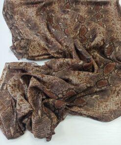 Натуральный шёлк со змеиным принтом