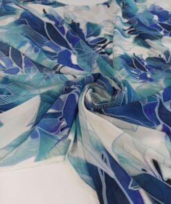 Итальянский плательный шелк синего цвета