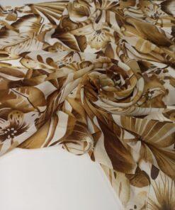 Купить шелк для платья коричневого цвета в розницу в Москве